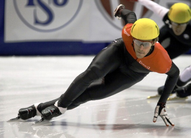 Canadian Oliver Jean could not compete in the 2011World Championship relay after Cho tampered with his skate