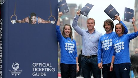 Sir Chris Hoy had helped launch the ticketing guide for Glasgow 2014