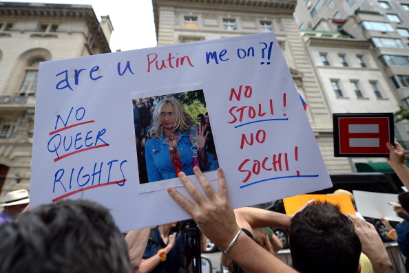 Demonstrators have taken to the streets in protest agains the new Russian anti-gay law