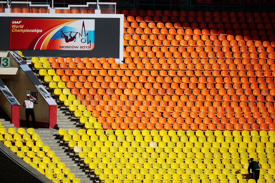 Empty seats at the IAAF World Championships in Moscow have been an embarrassment for Russian organisers, something which Beijing has promised will not happen there in 2015