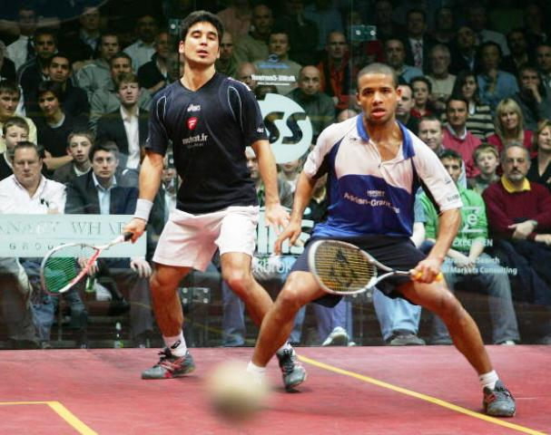 England's Adrian Grant (right) will be in action at the 2013 Rotterdam Squash Open