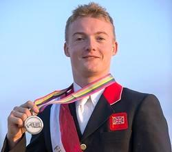 Great Britain's Ricky Balshaw with his European Championship silver medal
