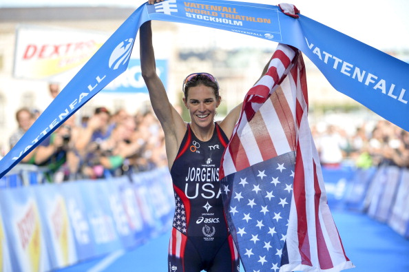 Gwen Jorgensen of the USA has completed her third International Triathlon Union (ITU) World Series win of the season to overthrow Germany's Anne Haug as the leading lady on the rankings table going into next month's Grand Final in London.