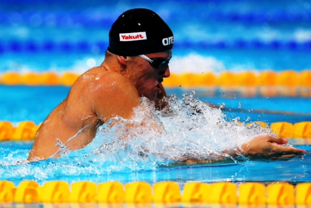 Hungarian Daniel Gyurta won his third consecutive 200m breaststroke world title in Barcelona