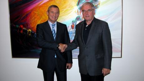 Igor Makarov with Pat McQuaid