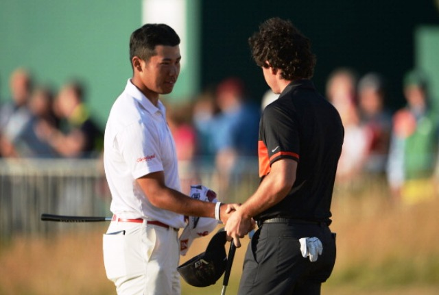 Japan's Hideki Matsuyama (left) and Northern Ireland's Rory McIlroy could be set to lock horns in the first ever EurAsia Cup in March next year