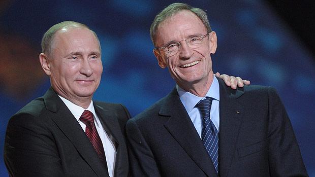 Jean Claude Killy with Vladimir Putin