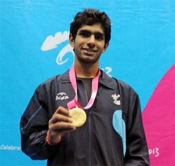 Kush Kumar provided a rare highlight for Indian at the Asian Youth Games with a gold in the mens singles squash event