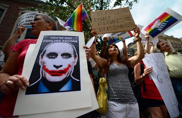 London Play against Russian gay laws