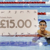 Olympic silver medallist Michael Jamieson helped Glasgow 2014 launch the first day of its ticket sales by diving into the newly revamped pool at Tollcross