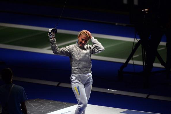 Olga Kharlan won the womens sabre gold