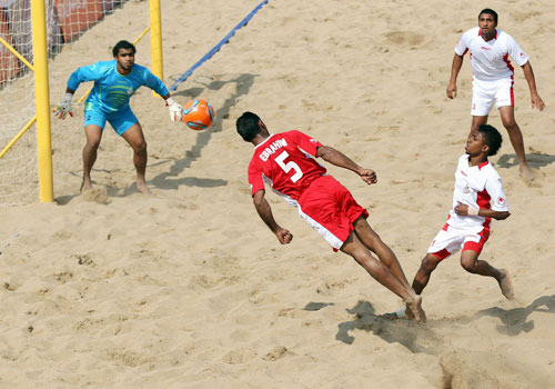 Other sports have adapted to the Beach Games format including football here in 2012