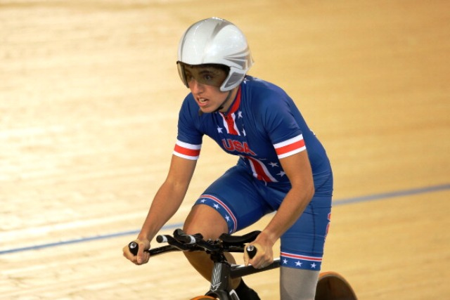 Paratriathlete Megan Fisher won individual pursuit gold at the London 2012 Paralympics