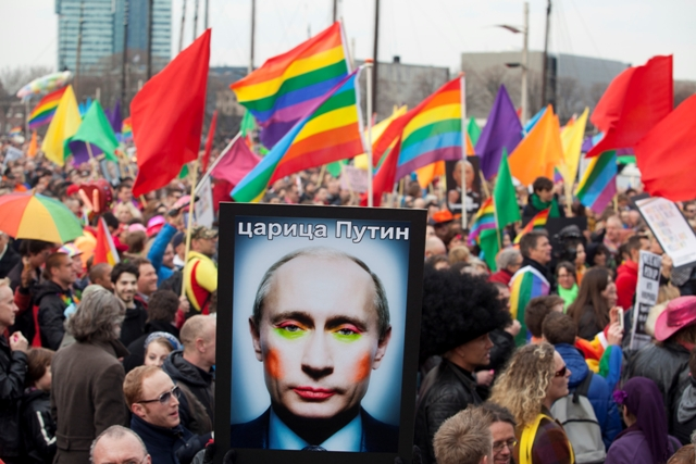 Russia anit-gay protest