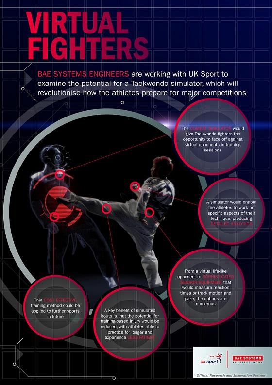 Taekwondo simulator infographic