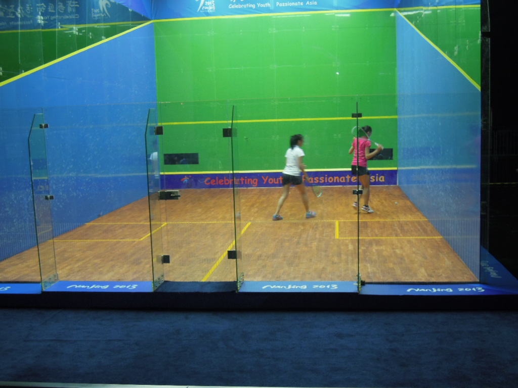 The hotly contested women's squash semi-final in Nanjing