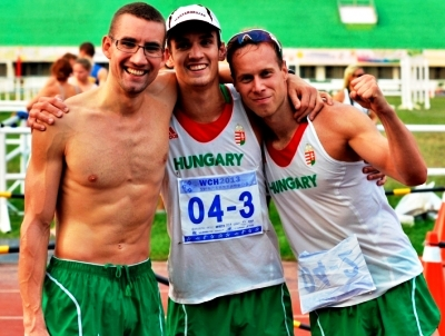 The Hungarian men's relay team took gold in Kaohsiung