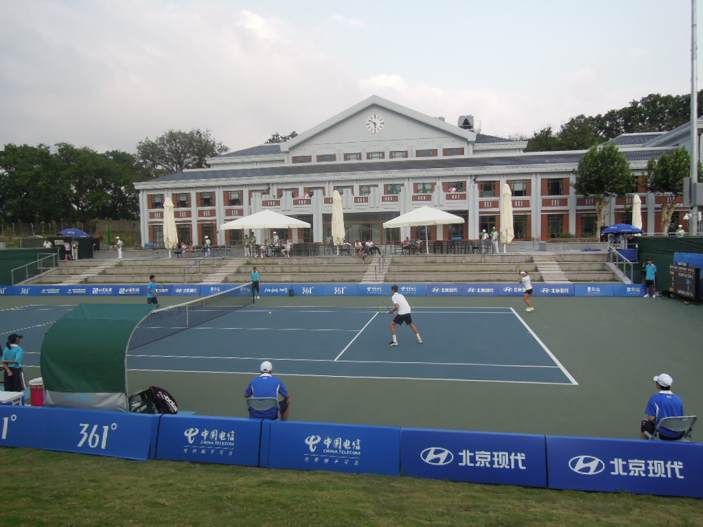 The tennis venue at the Asian Youth Games