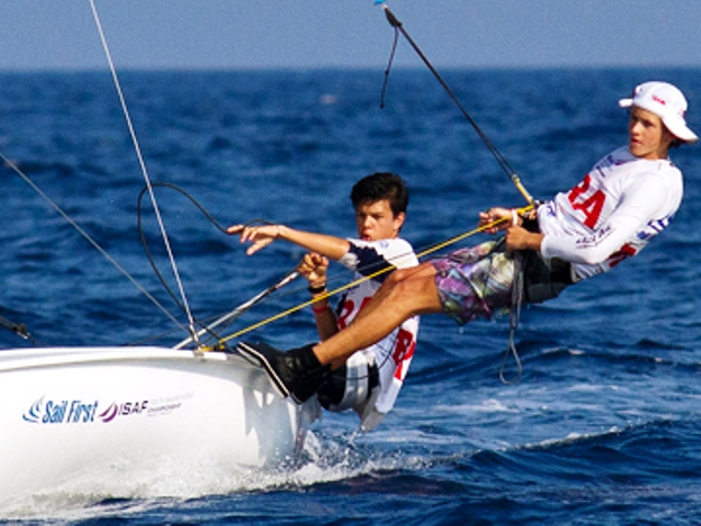 Tiago Brito and Andrei Kneipp had to settle for silver at the 420 World Championships in Valencia