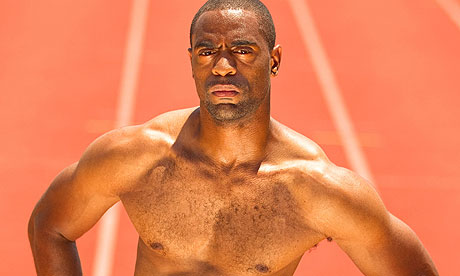 Tyson Gay with vest off