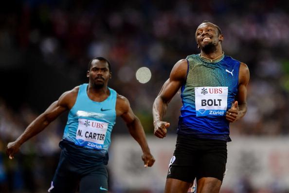 Usain Bolt won the Diamond League 100 metres in Zurich despite a poor start