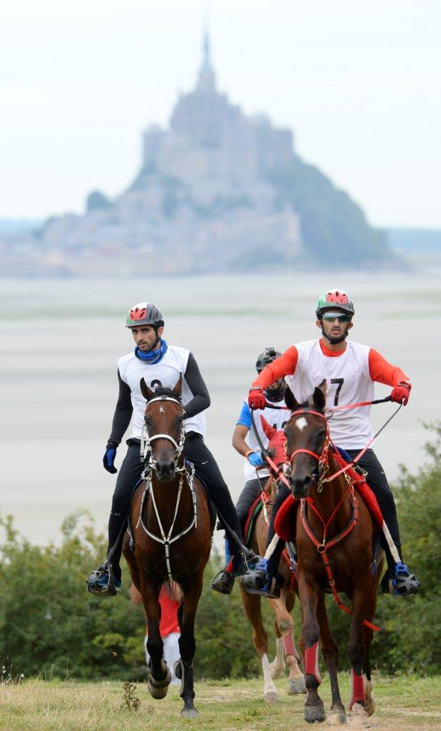 Test events got underway for next year's World Equestrian Games in Normandy with the endurance event, won by Dubai's Crown Prince Sheikh Hamdan bin Mohammed Al Maktoum