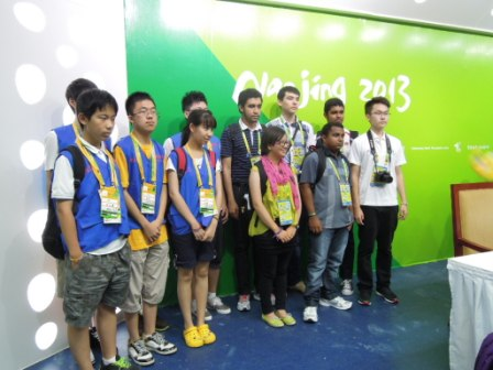 These young journalists were awarded scholarships to come and report at Nanjing