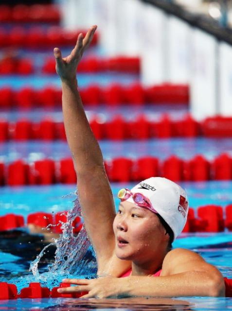 Zhao Jing reigned supreme in the womens 50m backstroke in Barcelona
