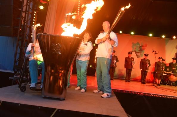 flame lit at stoke mandeville