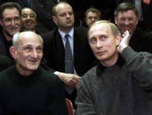 Vladimir Putin with judo coach