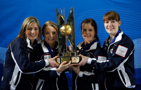 Scotland's World Championship-winning curling team are the first athletes to be selected for the British team that will compete at Sochi 2014