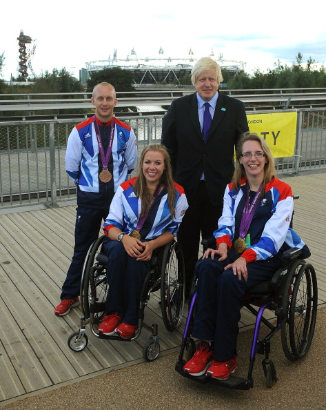 Mayor of London Boris Johnson was in attendance at the National Paralympic Day celebrations on the Queen Elizabeth Park today where he received the Order