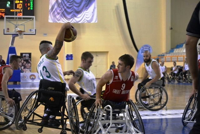Action from the bronze medal match between Great Britain and Australia at the Under 23 Wheelchair Basketball World Championships in Alanya