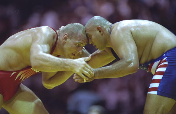 Alexander Karelin won three gold and one silver medal at successive Olympics and is one of the greatest names in the history of the sport