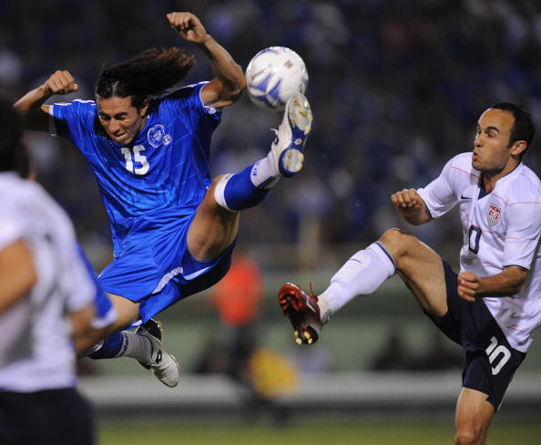 Alfredo Pacheco here in action in 2009 against the United States had scored seven times in over 80 national team appearences before his ban