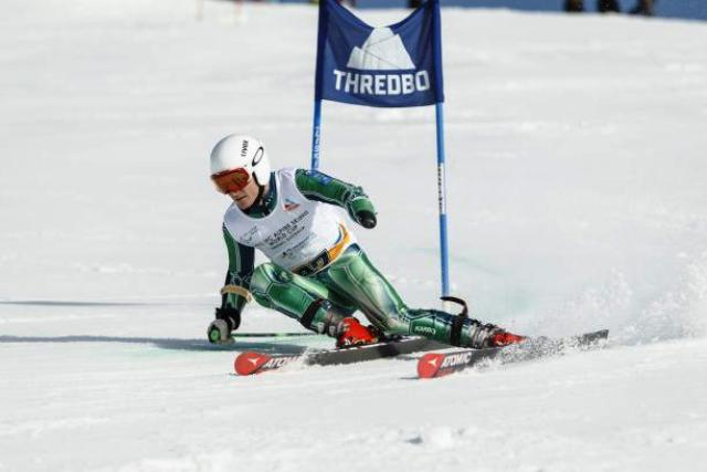 Mitchell Gourley bagged two gold medals at the IPC Alpine Skiing World Cup in Thredbo