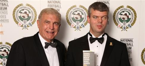 British five a-side legend Dave Clarke being inducted into the National Football Association Hall of Fame