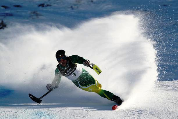 Cameron Rahles-Rahbula performing on his home slopes in Thredbo