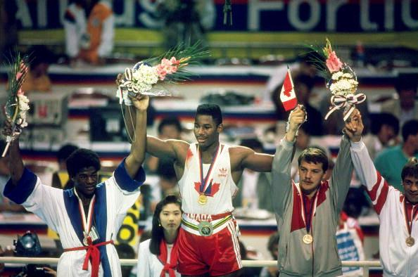 Former undisputed heavyweight champion of the world Lennox Lewis won boxing gold for Canada at the Seoul 1988 Olympic Games