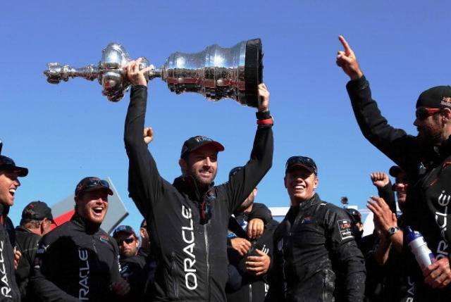 Four-time Olympic champion Ben Ainslie was drafted in by Team Oracle USA to help with tactics