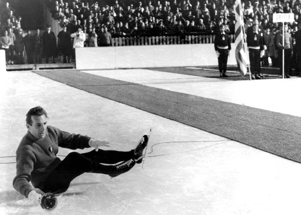 """Guido Caroli was """"so ashamed"""" when he tripped on a microphone cable on his way to lighting the 1956 Olympic Cauldron"""