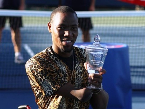 History maker Lucas Sithole with the US Open quads trophy