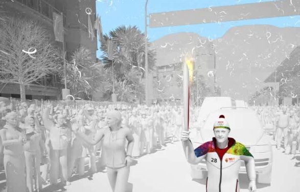 Ioannis Antoniou has been revealed as the first Torchbearer of the Sochi 2014 Olympic Torch Relay