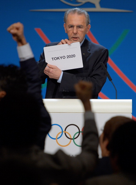 IOC President Jacques Rogge announces that Tokyo will host the 2020 Olympics and Paralympics