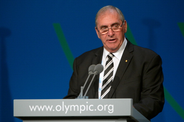 "John Fahey revealed details of the ""steroid passport"" to IOC members in Buenos Aires"