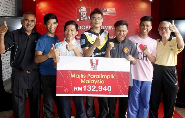 KFC is sponsoring the Asian Youth Para-Games in Kuala Lumpur