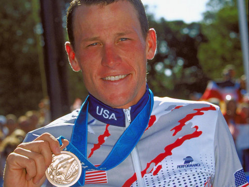 Lance Armstrong used his Twitter account to say that he had handed his Olympic bronze medal back to the USOC