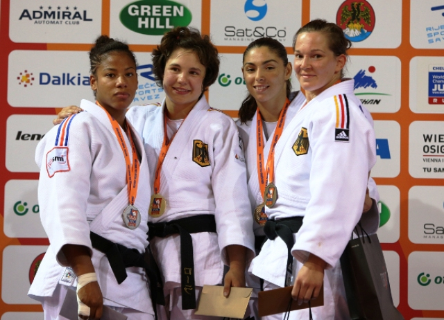 Laura Vargas Koch (second from left) bagged one of four gold medals for Germany in Rijeka