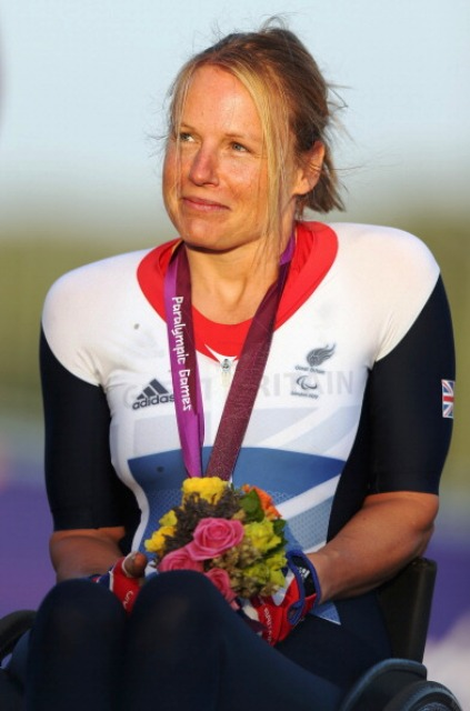 London 2012 silver medallist Karen Darke is encouraging young female riders to get involved in Paralympic cycling