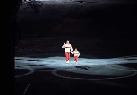 Michel Platini became the first Summer Olympian to help light a winter Cauldron